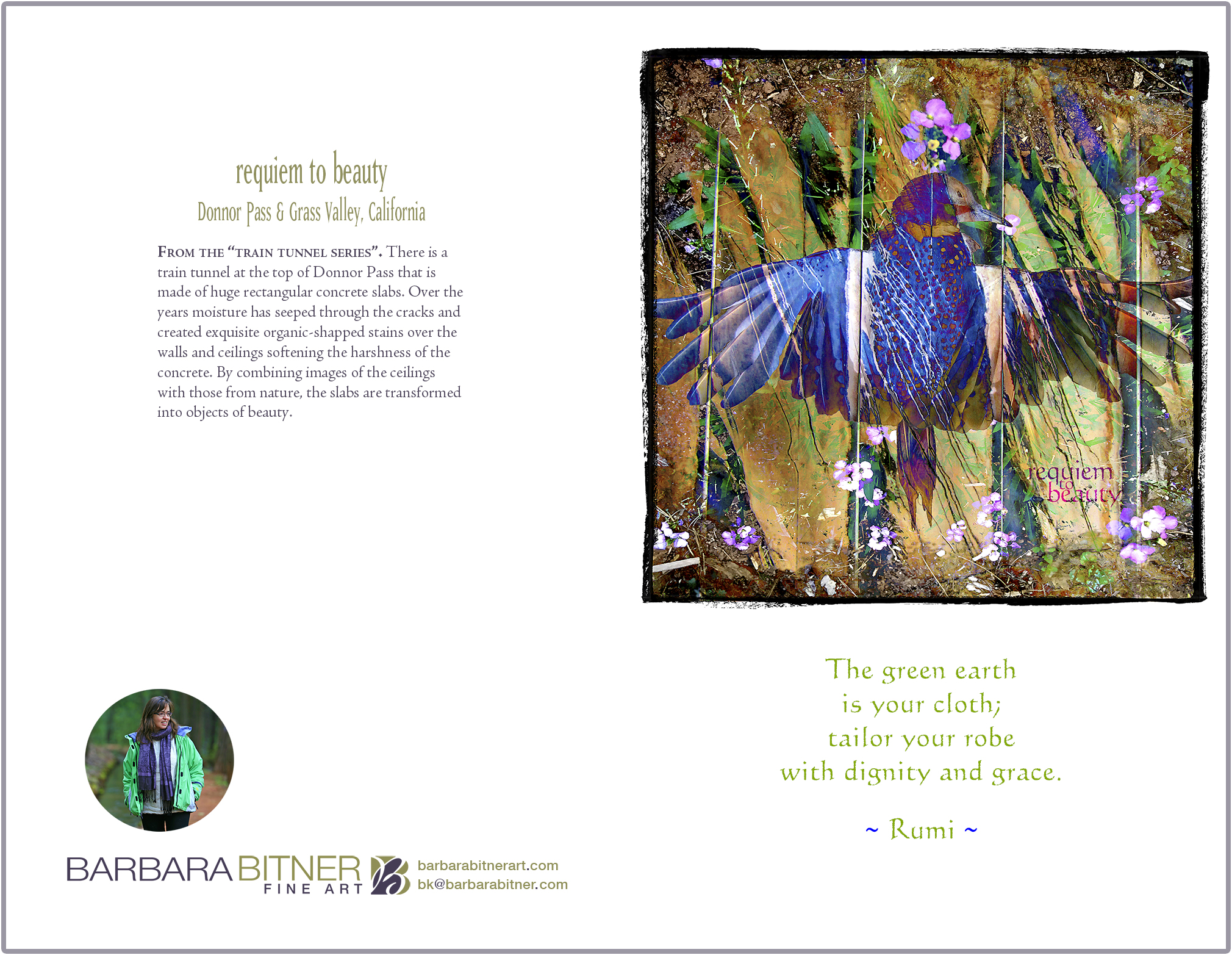 Requiem to Beauty greeting card