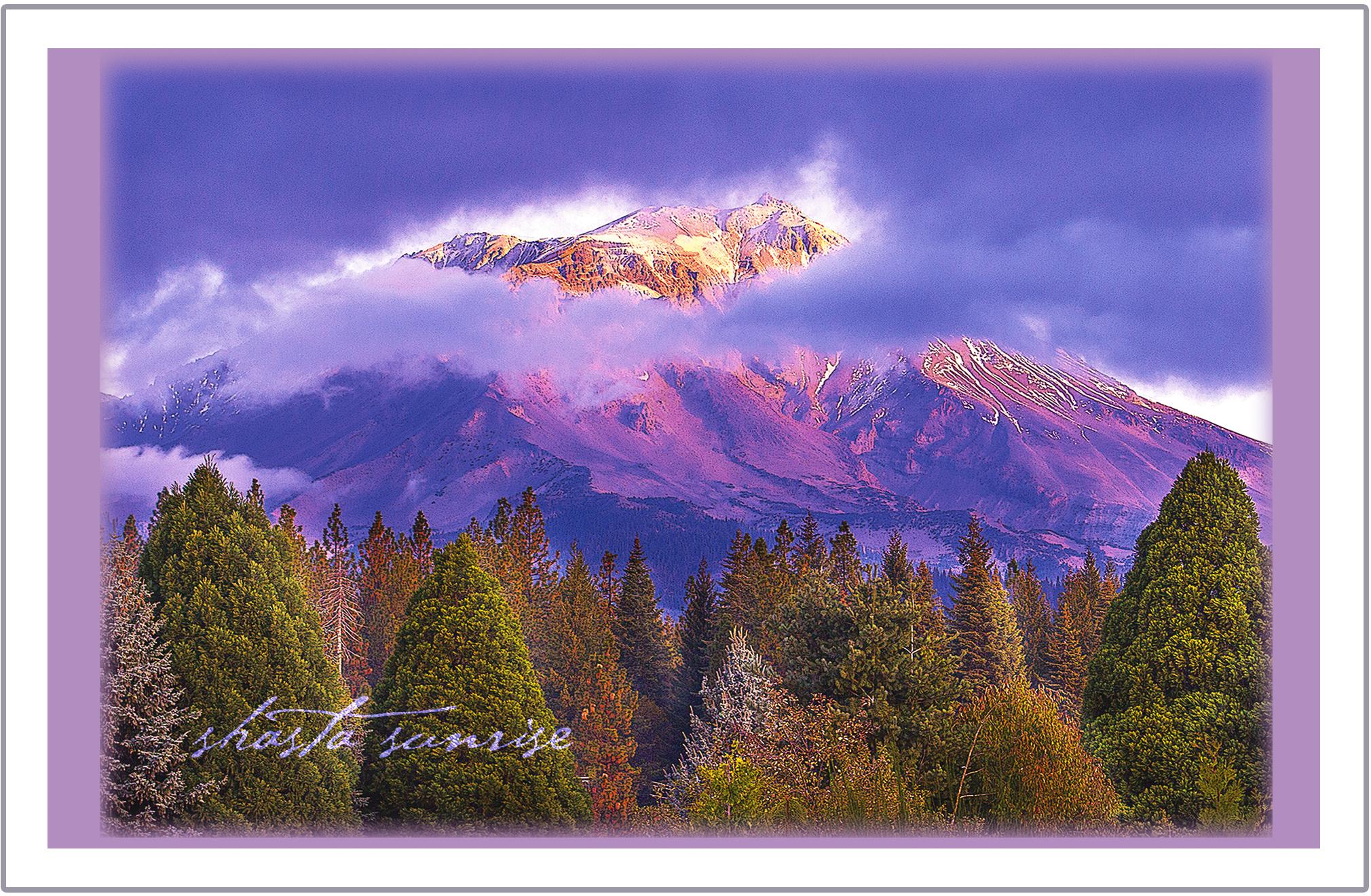 Shasta Sunrise greeting card