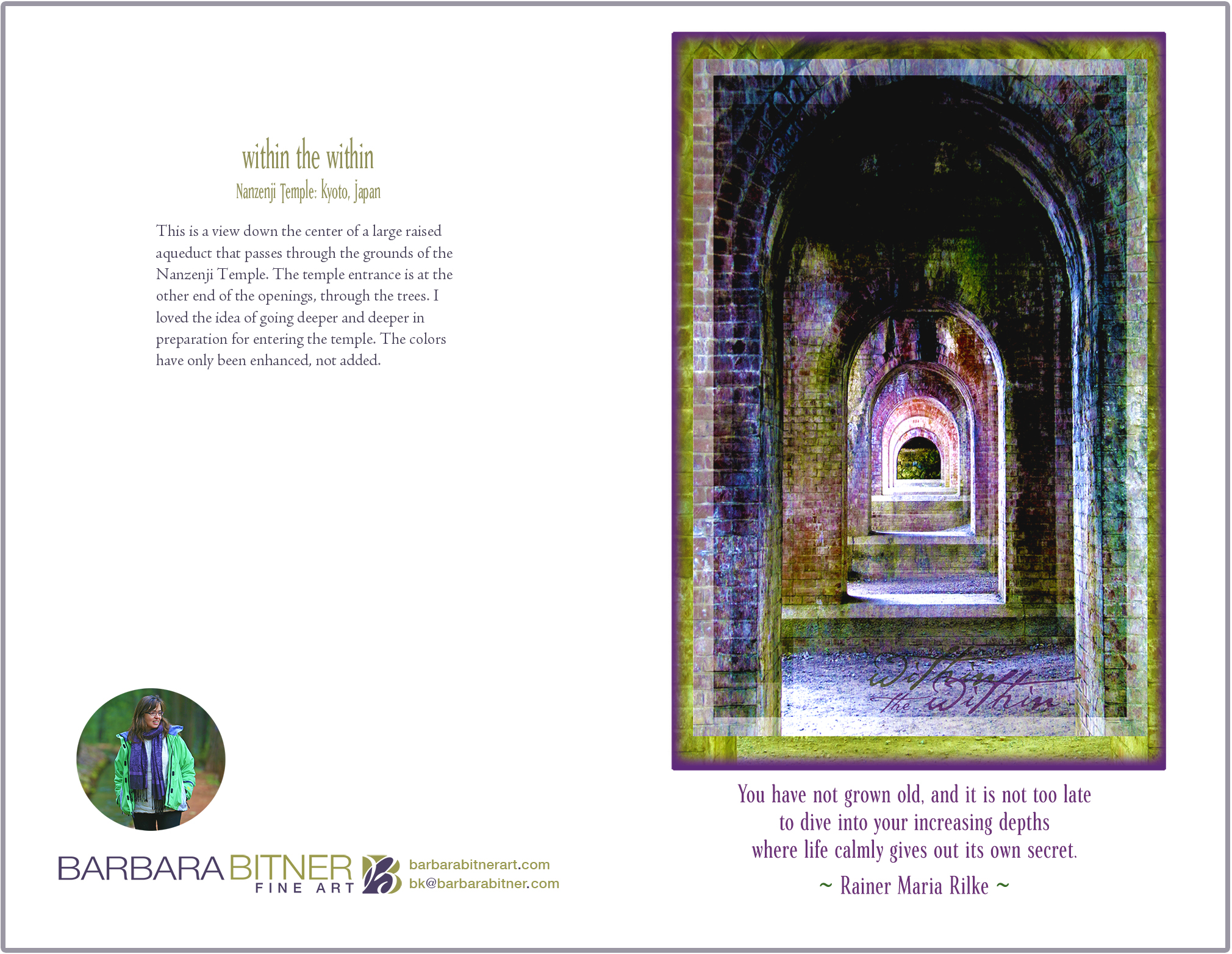 Within the Within greeting card